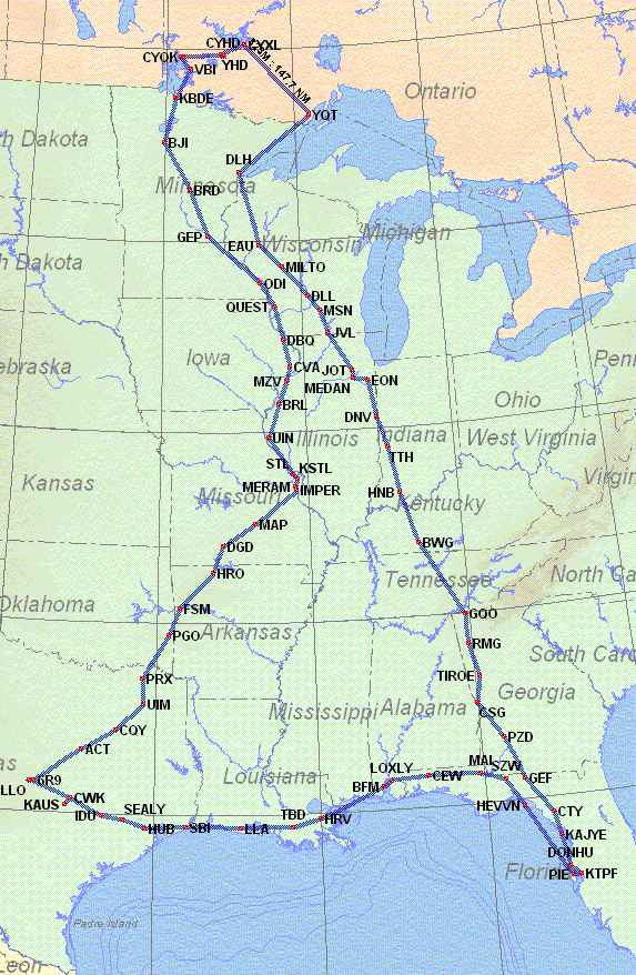 Map of IFR Adventure Trip #35